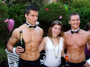 Hens Party Ideas Topless waiters in The Hunter Valley Butlers in
